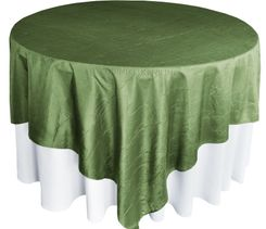 "85"" Square Crushed Taffeta Table Overlays - Clover 61548 (1pc/pk)"