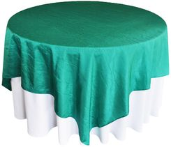 "85"" Square Crushed Taffeta Table Overlays - Jade 61526 (1pc/pk)"