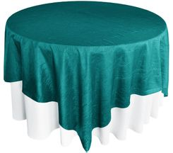 "85"" Square Crushed Taffeta Table Overlays - Oasis 61558 (1pc/pk)"
