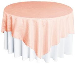 "85"" Square Crushed Taffeta Table Overlays - Peach / Apricot 61531 (1pc/pk)"