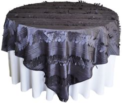 "85"" Square Forest Taffeta Table Overlays - Pewter 67560(1pc/pk)"