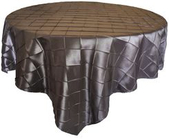 "85"" Square Seamless Pintuck Taffeta Table Overlays (28 Colors)"