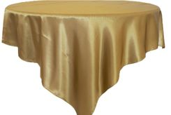 """85"""" Square Satin Table Overlay - Antique Gold 51229 (1pc/pk)"""