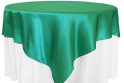 85x85 Square Satin Table Overlays - 56 Colors