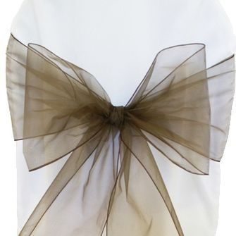 Organza Chair Sashes - Chocolate 50591 (10pcs/pk)