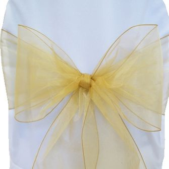 Organza Chair Sashes - Gold 50527 (10pcs/pk)