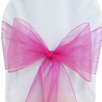 Organza Chair Sashes - Magenta / Azalea 50536 (10pcs/pk)