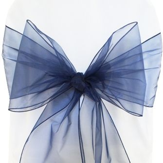Organza Chair Sashes - Navy Blue 50523 (10pcs/pk)