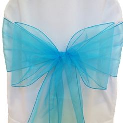 Organza Chair Sashes - Turquoise 50585 (10pcs/pk)