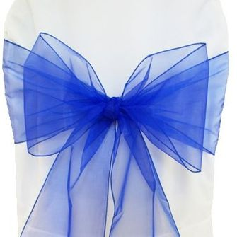 "8""x108"" Organza Chair Sashes (41 Colors)"