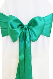 Satin Chair Sashes - Jade 50626 (10pcs/pk)
