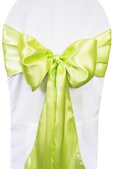 Satin Chair Sashes - Key Lime 50649 (10pcs/pk)