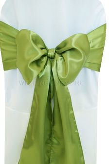 Satin Chair Sashes - Moss Green 50617 (10pcs/pk)