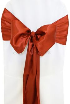 Satin Chair Sashes - Rust 50647 (10pcs/pk)