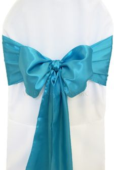 Satin Chair Sashes - Turquoise 50685 (10pcs/pk)