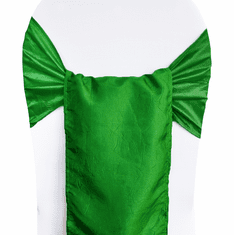 "9.5""x108"" Crushed Taffeta Chair Sashes (33 colors)"