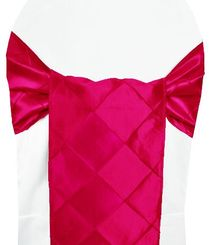 "9.5"" x 108"" Pintuck Taffeta Chair Sashes - Fuchsia 60109 (10pcs/pk)"