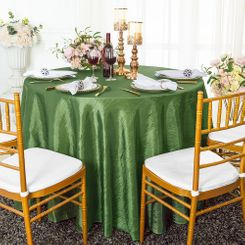 "90"" Round Crushed Taffeta Tablecloth - Clover Green 61648(1pc/pk)"