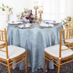"90"" Round Crushed Taffeta Tablecloth - Dusty Blue 61603(1pc/pk)"