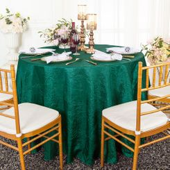 "90"" Round Crushed Taffeta Tablecloth - Hunter Green / Holly Green 61619(1pc/pk)"