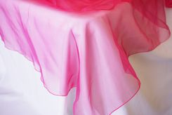 "90"" Round Organza Table Overlay - Fuchsia 55009(1pc/pk)"