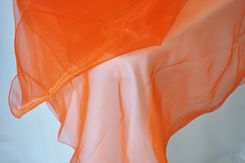 "90"" Round Organza Table Overlay - Orange 55033(1pc/pk)"