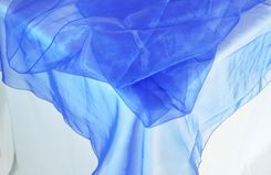 "90"" Round Organza Table Overlay - Royal Blue 55022(1pc/pk)"