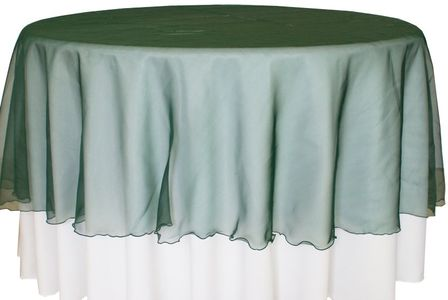 """90"""" Round Organza Table Overlays (41 colors)"""