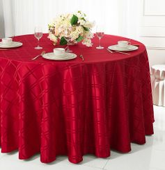 "90"" Round Plaid Jacquard Polyester Tablecloths (6 colors)"