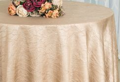 "90"" Round Crushed Taffeta Tablecloth - Champagne 61628(1pc/pk)"