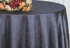 "90"" Round Crushed Taffeta Tablecloth - Pewter 61660(1pc/pk)"