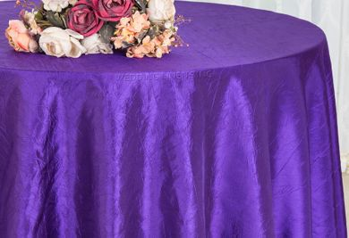 "90"" Round Crushed Taffeta Tablecloth - Regency  61663(1pc/pk)"