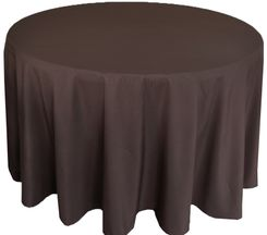 """90"""" Round Polyester Tablecloth - Chocolate 53191(1pc/pk)"""