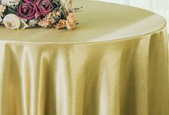 "90"" Round Satin Table Overlay - Cappuccino 55546 (1pc/pk)"