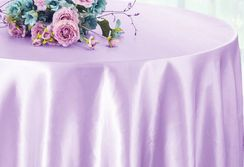 "90"" Round Satin Table Overlay - Lavender 55511 (1pc/pk)"