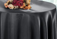 "90"" Round Satin Table Overlay - Pewter 55560 (1pc/pk)"