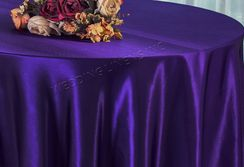 "90"" Round Satin Table Overlay - Regency 55563 (1pc/pk)"