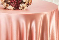 "90"" Round Satin Table Overlay - Rose Pink 55507 (1pc/pk)"