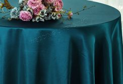 "90"" Round Satin Table Overlay - Serene 55588 (1pc/pk)"