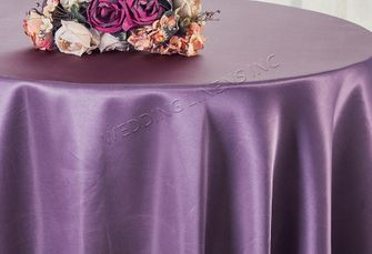 "90"" Round Satin Table Overlay - Wisteria 55573 (1pc/pk)"