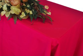 "90"" x 132"" Rectangle Polyester Tablecloth - Apple Red 53208 (1pc/pk)"