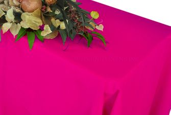 "90"" x 132"" Rectangle Polyester Tablecloth - Fuchsia 53209(1pc/pk)"