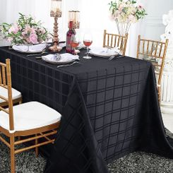 "90""x 132"" Rectangular Plaid Jacquard Polyester Tablecloths (6 colors)"