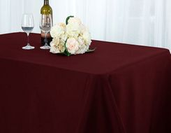 "90"" x 132"" Seamless Rectangle Scuba (Wrinkle-Free) Tablecloths (7 color)"