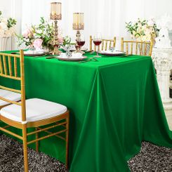 "90""x 132"" Seamless Rectangular Scuba (Wrinkle-Free) Tablecloth - Emerald Green 21138 (1pc/pk)"
