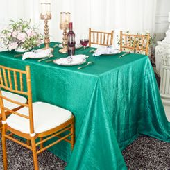 "90""x132"" Rectangle Crushed Taffeta Tablecloth - Jade 61726(1pc/pk)"