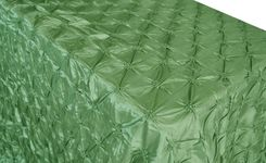 "90""x132"" Rectangle Pinchwheel Taffeta Tablecloth - Clover Green 66748(1pc/pk)"