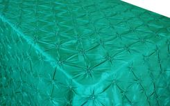 "90""x132"" Rectangle Pinchwheel Taffeta Tablecloth - Jade 66726(1pc/pk)"