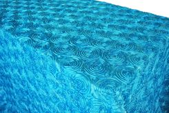 "90""x132"" Rectangle Satin Rosette Tablecloth - Turquoise 56285 (1pc/pk)"