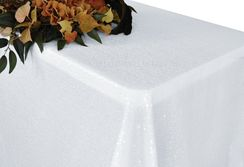 "90""x132"" Rectangle  Sequin Tablecloth - White 01501 (1pc/pk)"